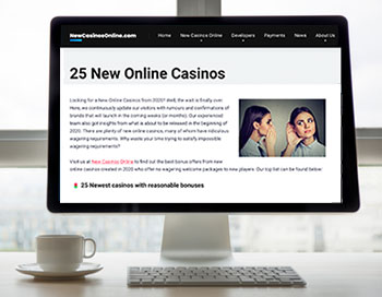 25 new casinos online - website screenshot