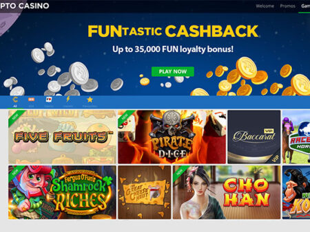 New Crypto Casino: 20% Cashback & Lots of Fun Games