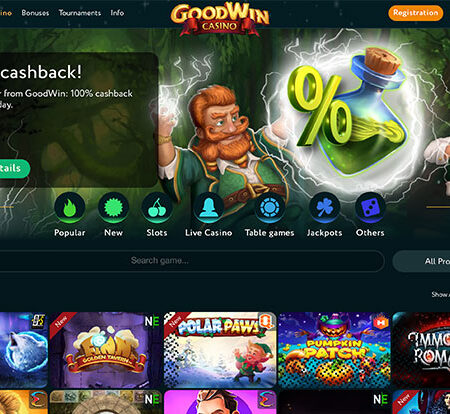 GoodWin Casino invites New Players with Cashback & Free Spins