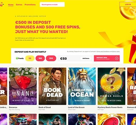 JustSpin: 500 free spins from a new casino