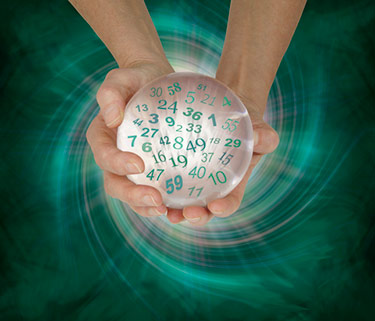 Lucky number on ball