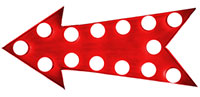 Red, negative arrow