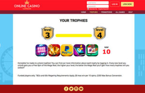 Trophies from Online Casino Londonj