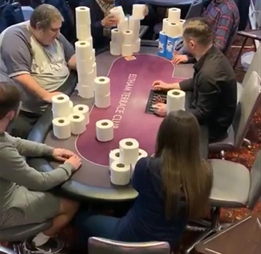 Toilet Rolls poker tournaments in large size