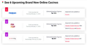 Upcoming new online casino sites